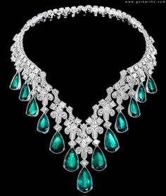 Chopard diamond and emerald necklace