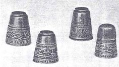 "late 16C German thimbles formerly in the Figdor Coll. Whereabouts now unknown. 3 have posies: 1) ""Herzlich Liebe scheid sich nie 1582"" [true love will never part] 2) ""Allein mein oder las gar sein"" [Mine alone or let it be] 3)""Bin ich euch feint, so strew ich heint 1580"" [anyne translate this, please? I can't!]"