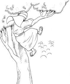 Zacchaeus coloring page   Bible Coloring Pages   Pinterest   Sunday ...