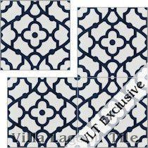 """""""Breeze Blue & White"""" Cement Tile"""