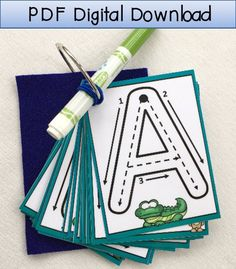 This Uppercase Little Letters Clip Cards Dry erase alphabet is just one of the custom, handmade pieces you'll find in our learning & school shops. Learning To Write, Learning Activities, Learn To Spell, How To Memorize Things, My Busy Books, Letter Formation, Number Formation, Busy Bags, Letter Recognition
