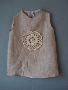 crocheted /sew organic linen baby/ toddler/girl от TheBabemuse