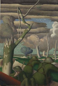 'Observation of Fire' [1919 Colin Gill].