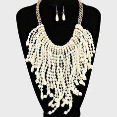 pearl fringe necklace