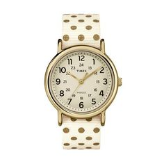 Timex Women's Weekender Polka Dot Reversible Watch - TW2P66100JT