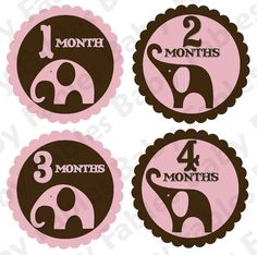 I like these ones more than the other!! :) Pink and brown and elephant!