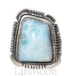 Toledo Larimar sterling ring