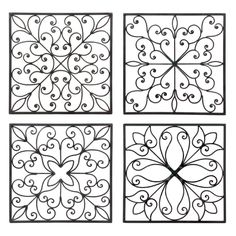 Designs for my toilet paper roll wall art :) - DIY @ Craft's Toilet Paper Roll Art, Toilet Paper Roll Crafts, Wrought Iron Wall Decor, Iron Decor, Simple Wall Art, Easy Wall, Quilled Creations, Metal Tree Wall Art, Metal Art
