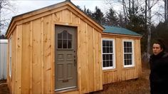This is a 9×20 Heritage tiny house by theJamaica Cottage Shop. From the outside, you'll notice a one-floor home with a green metal roof and board and batten walls. When you go inside, y…