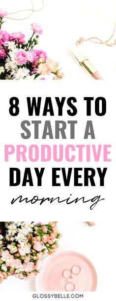 Having a great morning routine and the right positive mindset is so important. Here are 8 things you need to do before 9 AM each morning to have a more productive day. These habits will help boost your productivity levels, get you closer to achieving your goals, and transform your life for the better! #goalsetting #productivity #planner #planning #success