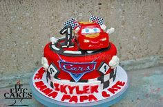 Disney Cars Lightning McQueen cake