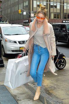 Gigi shopping at Givenchy store in NY