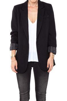 Anine Bing Classic Fit Blazer in Black