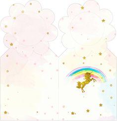 Zaznaczanie stron Unicorn Unicorn Birthday Parties, Unicorn Party, 7th Birthday, Party Kit, Baby Party, Envelope Box, Paper Gift Box, Diy Invitations, Blogger Templates