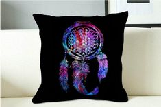 bring me the horizon dreamcatcher nebula galaxy Square Pillow Case on Etsy, $13.27