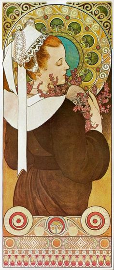 Alphonse Mucha - Heather from the Cliff & Thistle from the Sands An aside