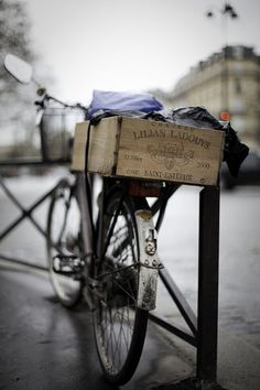 bicycle along the seine, paris
