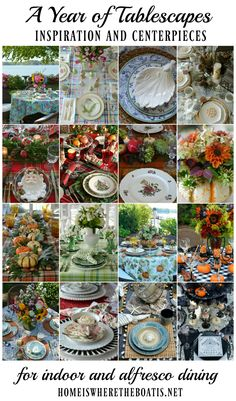 A Year of Tablescapes, celebrating the seasons and holidays with inspiration and centerpieces for indoor and alfresco dining   homeiswheretheboatis.net