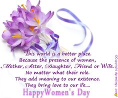 Dgreetings - Say thanks to a woman for all she has done for you on this Woman's Day.
