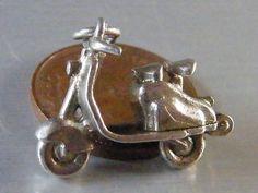 Vintage Sterling Silver Charm Lambretta or Vespa Scooter Opens 4 5g | eBay