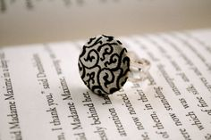 White Floral Ring by KellyStahley on Etsy, $18.00