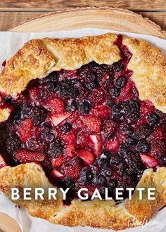 Berry Galette is like pie but way more laid back. It's summer so berries are in season and this galette is basically a free-form pie stuffed with them. It's easy to assemble and the crust doesn't have to be perfect. Just pile the fruit in the center, fold the edge over and bake. Honestly, the hardest part is choosing whether to eat it with ice cream or whipped cream (or both).