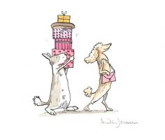Retail Therapy, Watercolour and Ink by Anita Jeram