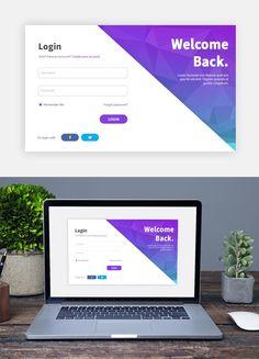 2017 Login Screen Design Template Source by hairlossstopper Form Design Web, Login Page Design, Web Design Websites, Online Web Design, Design Food, Dashboard Design, Formulários Web, Design Thinking, Wireframe Mobile