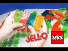 Make LEGO Jello Gummy Candy Pieces with LEGO Blocks, Little Men, Giant Men.