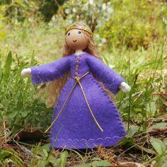 Natural Handmade dollhouse family princess doll – Wildflower Innocence Toys