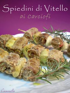 spiedini di vitello ai carciofi #recipe #juliesoissons
