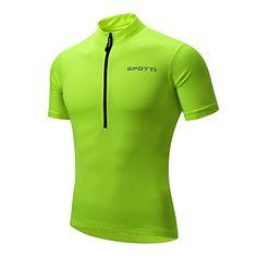 5ac0c3073 Amazon.com   Spotti Basics Men s Short Sleeve Cycling Jersey - Bike Biking  Shirt   Sports   Outdoors