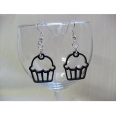 Laser cut acrylic cupcake earrings.
