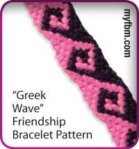 Greek Wave friendship bracelet pattern :)
