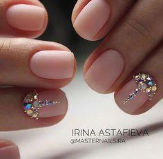 35 Simple Ideas for Wedding Nails Design - Nail Art Natural Wedding Nails, Simple Wedding Nails, Wedding Nail Colors, Wedding Nails Design, Nail Wedding, Wedding Manicure, Bling Wedding, Swarovski Nails, Crystal Nails