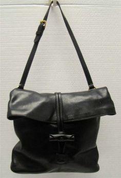 Dooney Bourke Black Florentine Leather Foldover Toggle Crossbody Handbag Purse Ebay Cross