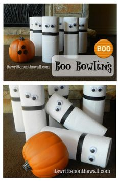 Halloween party games, boo Bowling, Party Games, B Fun Halloween Activities, Halloween Games Adults, Halloween Party Games, Halloween Kids, Kid Activities, Diy Party Games, Party Prizes, Game Prizes, Ideas Party