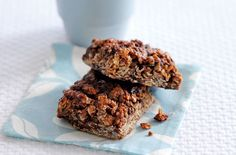 Peanut butter and choc-chip flapjacks