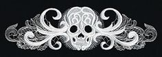 Ghost Baroque - Skull Border design (UT8606) from UrbanThreads.com It is a dimensional design suitable for most fabrics with the exception of lightweight and light (tshirt weight) knits.