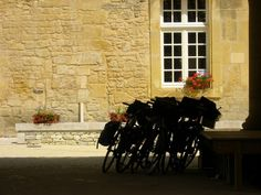 Chiaroscuro: To us this is everything about a holiday on a bicycle, six friends ,six bikes, short siesta in a peaceful sunny village in the Dordogne. #travel #france