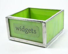 Lime Green Desk Tray, Paper Clip Holder, Modern Office Decor, Catch All Desk Accessory, Office Organizer, Small Coin Holder, Desk Organizer