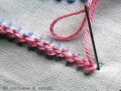 How to Stitch a Threaded Backstitch or Running Stitch