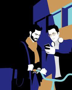 #illustration pour Zesto RCI Banque #vectorart #illustrationart #zesto #rcibank #artwork #art #Friends
