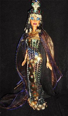 Cleopatra ~ Egyptian Queen barbie doll ooak repaint DAKOTAS.SONG