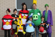 Angry Bird Halloween Costumes.