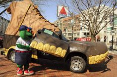 Wally stopped by the L.L.Bean Bootmobile at Kenmore Square last Friday for the Red Sox home opener.