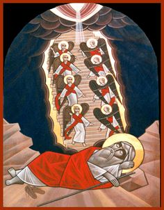 Coptic Orthodox Jacobs Ladder Icon