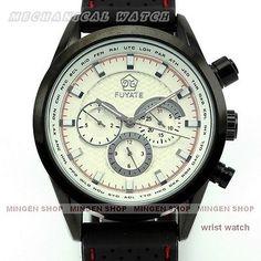 U122 - Luxury Automatic Mechanical Date Calendar Silicon Strap Men Sport Watch