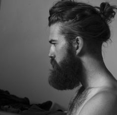 This picture is supposed to be all about the beard.. but I'm obsessed with the pony tail!  @Jessica Rahill