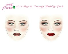 2014 Day to Evening #Holiday Looks #ontheblog #100percentpure #makeup